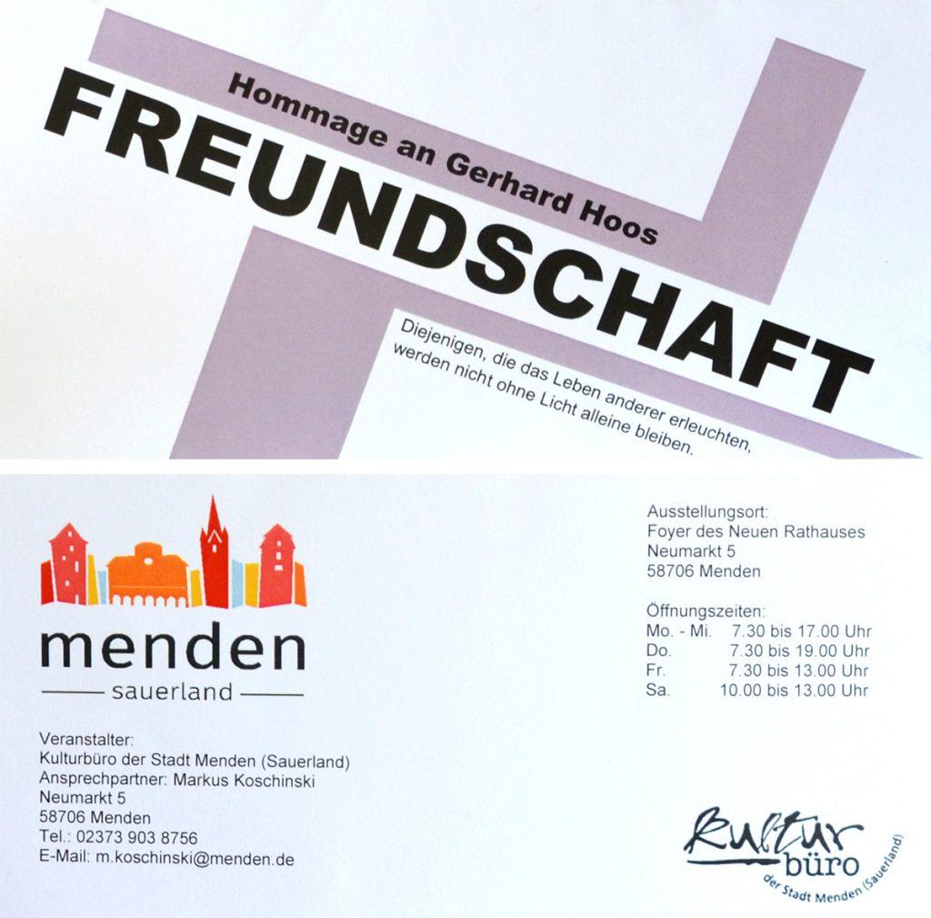 """Freundschaft"" Alexander Wotschel im Foyer des Mendener Rathauses"